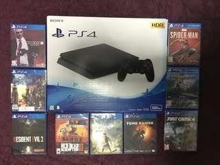PS4 PlayStation 4 Console Rental with PS4 Games Bundle