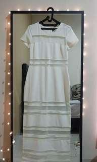 NASTY GAL - long white dress