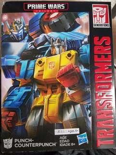 全新原裝行貨 hasbro 變形金剛transformers prime Wars counterpunch