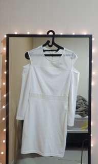 Zalora white mini dress