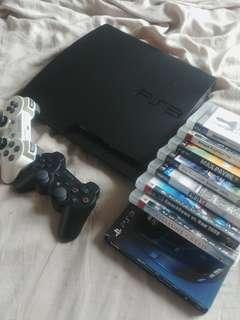 PS3 SLIM 320GB CECH-3006B with 8 Games