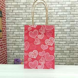 Paper Bag Valentine Pink Love