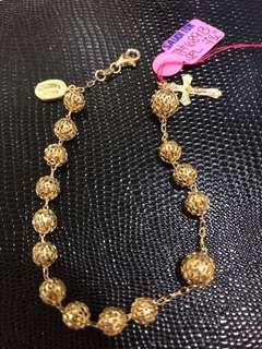 18k Gold Rosary Bracelet