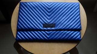 CLUTCH bag - minimalist blue color