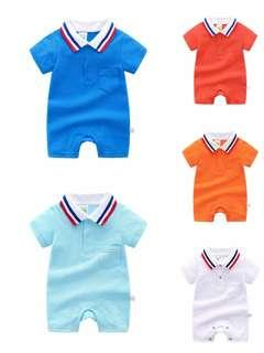 🚚 🌟PM for price🌟 🍀Newborn Baby Boy Casual Short Sleeves Lapel Romper🍀