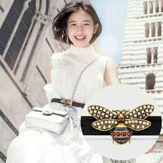 🚚 Small Bee Buckle Rivet Belt For Women Top Quality Smooth Buckle pu Leather Women's Belt Ceinture