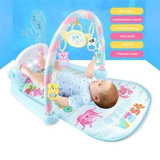2019🔥🔥Baby Colorful Gym Musical Games Piano Play Mat