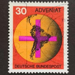 🚚 Germany 1967. Catholic Church Help for Latin America complete stamp set of 1