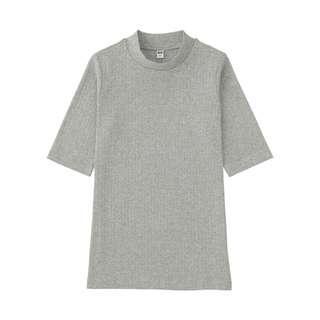 🚚 Uniqlo high neck half sleeve ribbed top