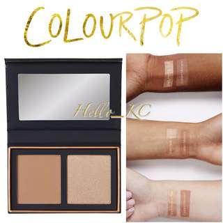COLOURPOP Pressed Powder Face Duo - TOPAZ