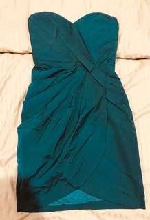Warehouse Teal dress