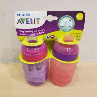 BN - Avent Soft Spout 9 Mths Pink Sippy Learner Cup