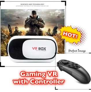"🚚 VR Headset with Remote Controller for 3D Movies and Games, compatible with 4""-6"" Smartphone"