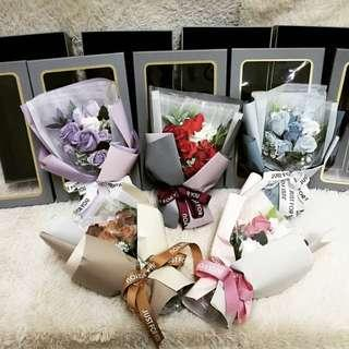 Aromatic Unfading Soap Flower Party Bath Gift Lover Anniversary Fine Petal Rose With 5 Colour