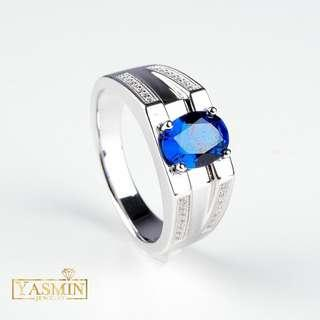 Silver 925 Ring Russian Blue