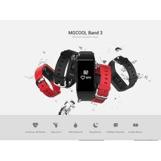 MGCOOL BAND 3 SMARTBAND IP68 WATERPROOF HEART RATE MONITOR SEDENTARY REMINDER CALORIE COUNTING SLEEP MONITOR