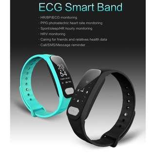 L8STAR R11 ECG SMARTBAND HEART RATE / BLOOD PRESSURE / SLEEP MONITOR PEDOMETER IP65 WATERPROOF BLUETOOTH 4.0