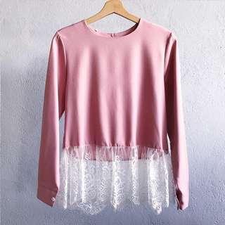 Pink Lace Blouse