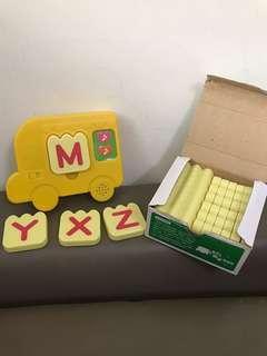 🚚 巧連智 ABC 語音學習車 會唱歌、講話 26個字母發音