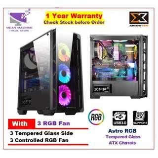 #Xigmatek Astro RGB ATX Mid Tempered Glass Gaming Tower#