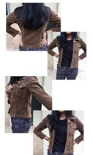 brown Crop Jacket