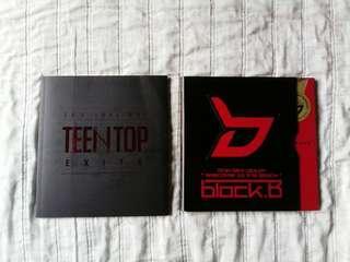 (FREE 1 ALBUM) KPOP ALBUMS BLOCK B AND TEEN TOP