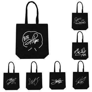BTS Signature/Autograph Canvas Tote Bag
