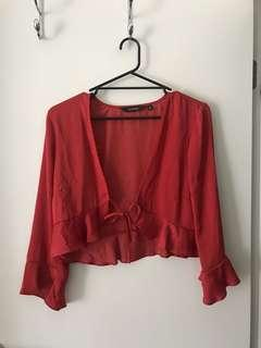 Glassons Silky Open Front Top
