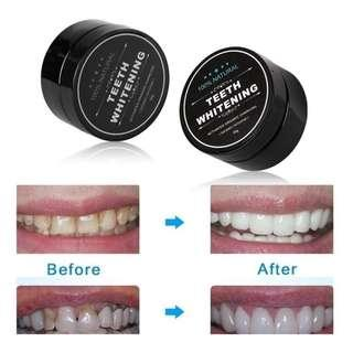 TEETH WHITENING CORCOAL NATURAL 100% #MMAR18