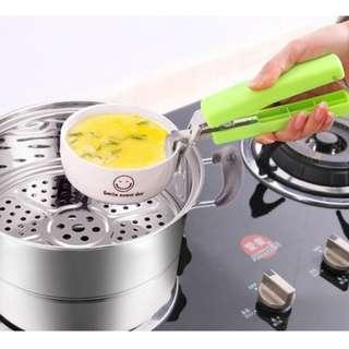 Hot Dish Clamp Holder / Anti-Scald / Plate Soup Bowl Pot Holder /Carrier Clip Handle---black