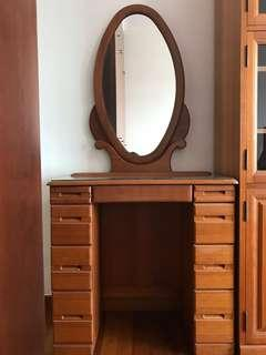 Custom made solid wood dressing table