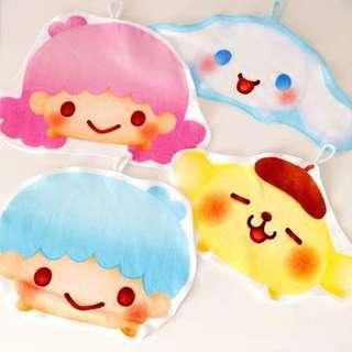 Little Twin Star kuromi 布甸狗毛巾兒童小手巾