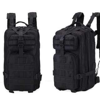 🚚 BN - Tactical Black Men's Backpack 25 litres