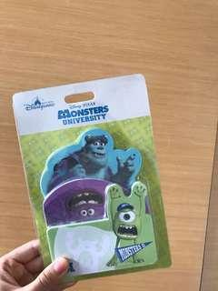 香港迪士尼 怪獸大學便條紙