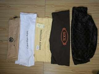 Authentic Dustbags louis Vuitton,Calvin Klein, Tods ,Gucci, for take all 1k