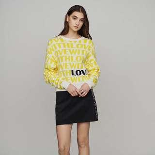 Maje yellow knit sweater