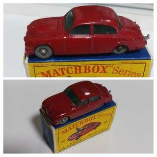 Vintage Matchbox Lesney #65 Jaguar Made In England