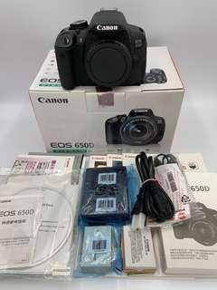 🚚 佳能 Canon EOS 650D Body 單機身 DSLR 公司貨 二手