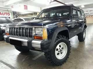 1994 Jeep Cherokee LIMITED 4x4 Automatic.4.0.Elektrik SEAT.Velg Orisinil AMERICAN Jeep.Three piece.TERAWAT.Unit Kondisi PRIMA