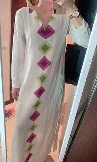 Brand New- Vneck long sleeve/long dress maxi