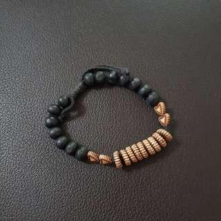 🔥 Gelang Ukiran Kayu, Beads Hitam #sharethelove