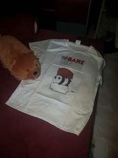 We bare bear tshirt  Unisex M size.