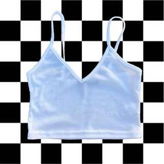 White cropped singlet