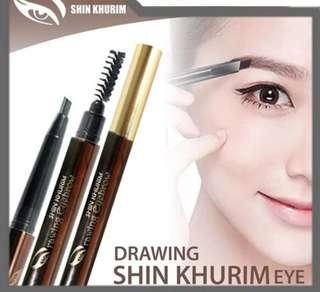 KONDISI BARU!! Pensil alis shin khurim - Dark brown