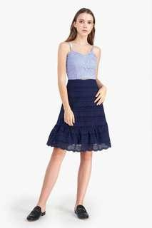 🚚 Fayth Nina Eyelet Ruffled Skirt