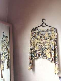 Nichii Floral Buttoned Blouse