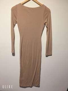 Nude dress kookai