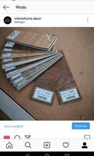 VINYL Floor Lantai wooden Laminate/SPC parquet carpet tile