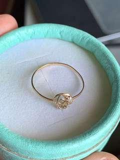 18K Real Gold Ring Size 6