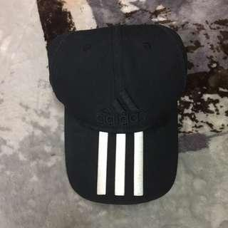 🚚 Adidas愛迪達黑色logo三線棒球帽